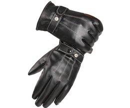 Mannen Black Winter Lederen Handschoenen Sport Driving Touchscreen Handschoenen Mannelijke Militaire leger guantes tacticos ST012
