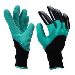 MyXL Rubber Graven Planten tuin handschoenen met 4 stks Plastic Klauwen voor Bouwers tuinman, Cut Slip waterdichte tuinieren wanten