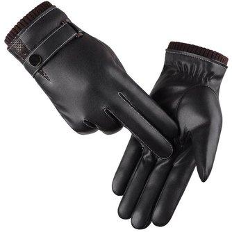 Heren Handschoenen Winter Wanten Warm Houden Touchscreen Winddicht Rijden HandschoenenMannelijke Herfst Winter Guantes Zwart Lederen Handschoenen