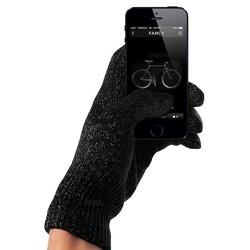 MyXL Snelste levering-tastbaar screen volledige vinger handschoen zwart unisex voor iphone/ipad winter warm mittens