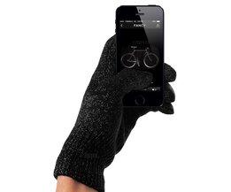 Snelste levering-tastbaar screen volledige vinger handschoen zwart unisex voor iphone/ipad winter warm mittens