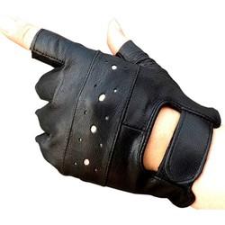 MyXL Kuyomens mannen vingerloze handschoenen vrouwen half vinger handschoen unisex volwassen vingerloze wanten echt lederen