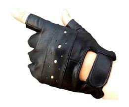 Kuyomens mannen vingerloze handschoenen vrouwen half vinger handschoen unisex volwassen vingerloze wanten echt lederen