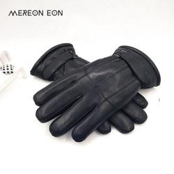 MyXL 2017Koop Mannen schapenvacht handschoenen lederen handschoen voor mannen winter Outdoor warm bont verdikking thermische patchwork handschoenen