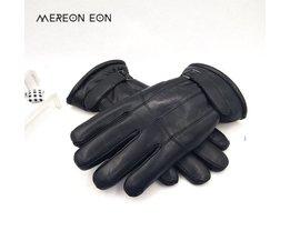 2017Koop Mannen schapenvacht handschoenen lederen handschoen voor mannen winter Outdoor warm bont verdikking thermische patchwork handschoenen