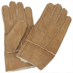 MyXL Cool mannen winter echt bruin schapenleer shearling bont warme handschoenen