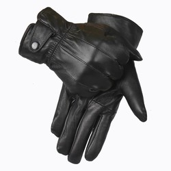 MyXL Lederen Handschoenen MannenWinter HandschoenEchte Schapen Lederen Wanten Mannen Echt Schapenvacht Handschoenen Winter YG015