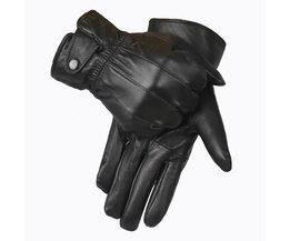 Lederen Handschoenen MannenWinter HandschoenEchte Schapen Lederen Wanten Mannen Echt Schapenvacht Handschoenen Winter YG015