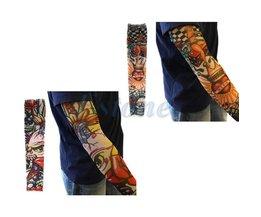 10 STKS Fake Tijdelijke Party Tattoo Slip op Mouwen Body Art Arm Covers Kousen Kerstcadeaus
