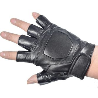 Kuyomens mannen vingerloze handschoenen pols half vinger handschoen unisex volwassen vingerloze wanten echt lederen