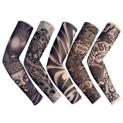MyXL 6 Stks Fietsen Buitensporten UV Nylon Smeden Cool Lange Arm Mouwen Om Cover Tattoos Manchetten Zon Schedel Arm Warmer