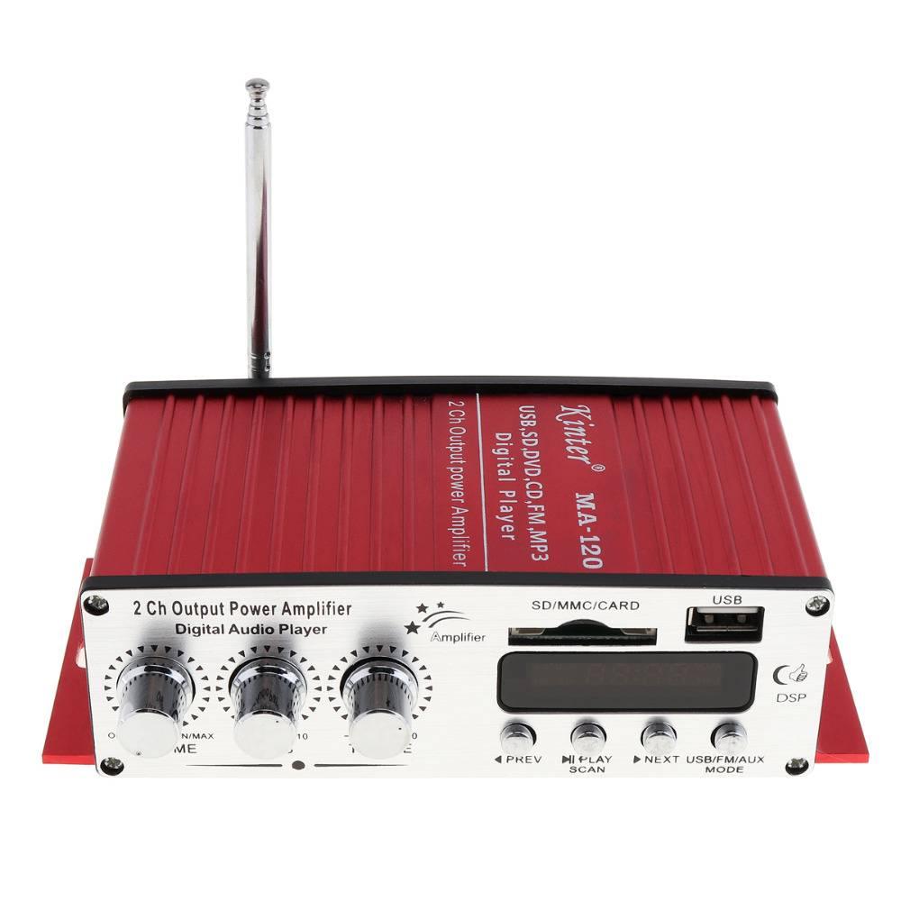 HiFi 20 W X 2 2 Kanaals Auto Eindversterker FM Radio Digitale Stereo Audio Player Ondersteuning USB