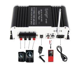 HY-803 DC12V 2CH FI Bluetooth Auto Audio Eindversterker FM Radio speler Ondersteuning SD/USB DVD/MP3 Ingang voor Auto motorfiets