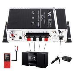MyXL Mini Auto Eindversterker Digitale Speler Audio Versterker AMP ondersteuning USB SD DVD CD FM MP3 Input met Afstandsbediening Controller