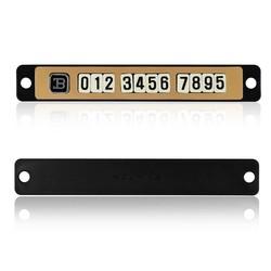 MyXL Onever Auto Lichtgevende Magnetische Puzzel Parking Plaat Tijdelijke Stop Teken Telefoonnummer Platen Auto-accessoires Parking Teken Kaart