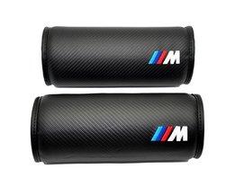 2 xCar Styling Voor Auto BMW M Lederen Nekkussen Hoofd Neksteun Kussen Hoofdsteun Kussen M Prestaties