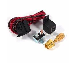 Auto-Styling 1 Set 4 pins Auto Schakelaar Sensor 175 ~ 185 Graden Motor Koelventilator Thermostaat Temperatuur Relais Kit