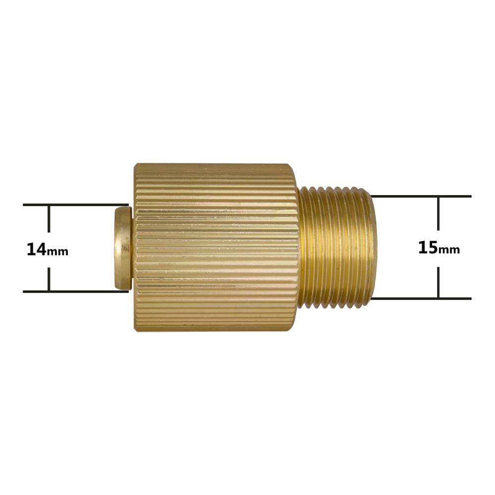 Adapter voor Hogedrukreiniger outlet (Converteren outlet binnendiameter 14mm tot 15mm)
