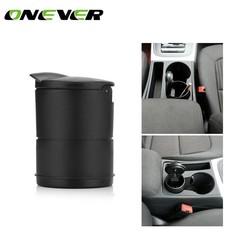 MyXL Onever Cilinder Auto Sigaret Asbak voor Bekerhouder Rookloze met Blauw LED Licht en Cover Sigaret Asbak Ingebouwde batterij