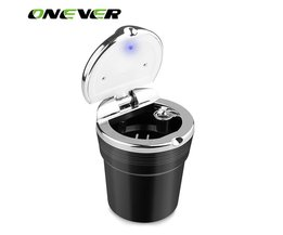 1 Stks Afneembare Cilinder Auto Sigaret Asbak Portable Auto Smokeless Stand Met Blauw LED Lamp Licht Voor Universele Auto