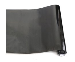 Universele 150x35 cm Zwarte Auto Wrap Roll Sticker PVC 5D Carbon Vinyl Folie Film Decal Voor VW/BMW/Honda/Toyota