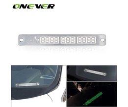Onever Auto Styling Lichtgevende Tijdelijke Parking Stop Teken Noctilucous Telefoonnummer Plaat Auto Parking Teken Voorlopige Card