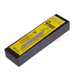 MyXL 50 Stks 30 Graden 9mm Carbon Staal Snap Off Blade voor Art Mes Cutter Staal Verwisselbare Bladen Zaagbladen voor Utility CN014