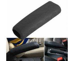 12x4 cm Zwart Siliconen Car Handrem Cover Anti Slip Parkeren Handrem Mouw