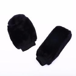 MyXL 2 Stks Auto Decoratie Accessoire Winter Warm Auto Versnellingspook Cover en Zachte Pluche Handrem Grips Cover Zwart