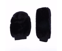 2pcs/set Universal Warm Plush Car Gear Head Shift Knob Cover Handbrake Grip Car Hand Brake Covers Case
