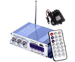 Motorfiets USB FM Audio Auto Stereo Versterker Radio MP3 Speaker LED Hifi 2 Kanaals Digitale Display Power Speler
