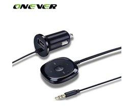 Onever Bluetooth 4.0 Draadloze Muziek Ontvanger 3.5mm Adapter Handsfree Auto Kit AUX Speaker 3.5mm Jack voor Auto Luidspreker Charger