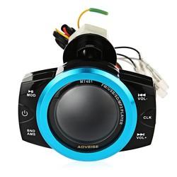 MyXL AOVEISE MT481 Motorfiets Mp3-speler Waterdichte Audio Radio Geluid Muziekspeler anti-diefstal Alarm Scherm Ondersteuning FM USB SD
