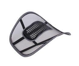 Autostoel Stoel Terug Massage Lendensteun Taille Kussen Mesh Ventileren Kussen Voor Car Office Home auto styling