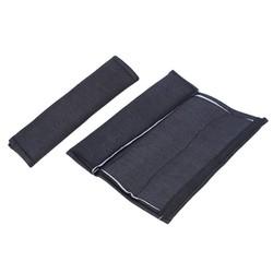 MyXL 2 stks Auto Styling Autostoeltje Riem Zachte Schouder Pads Cover Zwart Katoen Kussen Harness Pad Protector Voor Volwassen Kid