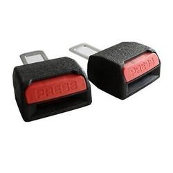 MyXL 2 Stks Universele Auto Veiligheid Verstelbare Seat Belt Clip Extender Uitbreiding Zwart Veiligheidsgordels En Padding