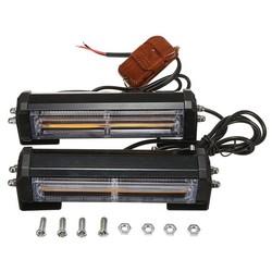 MyXL 2 Stks Amber COB Auto Voertuig LED Noodwaarschuwing Lamp Beveiliging Knipperende Stroboscoop Bars w/Afstandsbediening 12 V/24 V