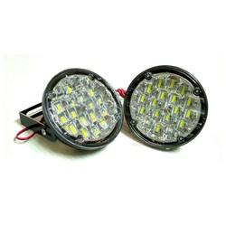 MyXL 2X12 V 18 LED Ronde Auto Rijden Dagrijverlichting DRL Mistlamp Heldere Wit