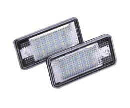 2 STKS 18 LED Auto LED Kenteken Plaat Licht Lamp Automobiles Foutloos OBD Verlichting voor Audi A3 A4 A6 A8 B6 B7 S3 Q7 RS4 RS6