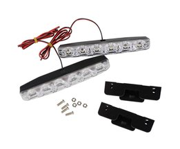 2 Stks Universele DRL DC 12 V LED Auto Dagrijverlichting 6 LEDs Auto Styling Super Heldere Automobile Licht bron