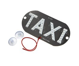 LED Auto Voorruit Cab Indicator Taxi Lamp Teken 45 LED Chips Blauw Voorruit Taxi Licht DC 12 V Auto-styling Auto Light bron