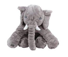 65 cm Grote Pluche Olifant Baby Slapen Kussen Zachte Olifant Pop Baby Slaap Speelgoed Dier Vorm Kussen Verjaardagscadeau voor Kids
