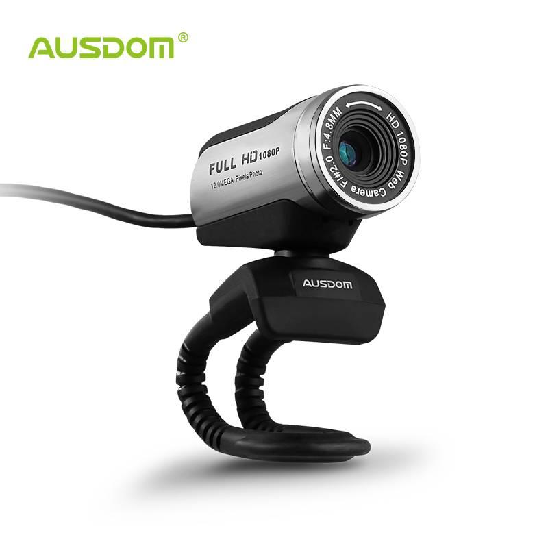 Ausdom AW615 1080 p usb 2.0 hd webcam camera computer web camera met microfoon voor pc laptop gratis