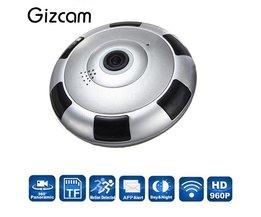 Gizcam Draadloze WiFi HD 360 Graden Fisheye Panoramische IP Camera IR Nachtzicht