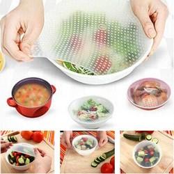 MyXL 4 Stuks Verschillende Grootte Siliconen Wrap Seal Cover Stretch Vershoudfolie Voedsel Verse Keuken Gereedschap