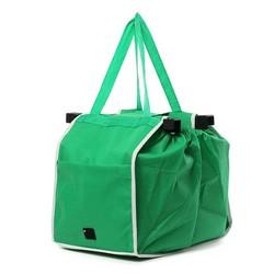 MyXL Vouwen Stof Shoping Bag Opvouwbare Tote Handtas Herbruikbare Trolley Clip Om Winkelwagen Boodschappen Kar Tassen eco tas