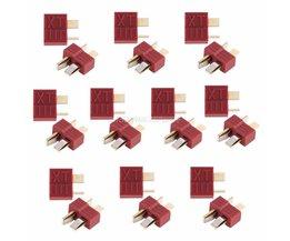 20 stks Anti-slippen Deans Plug T Connector Mannelijke & Vrouwelijke Voor RC LiPo Batterij ESC # T026 #