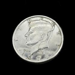 MyXL Nieuwetwee fold bite coin dollars magic close-up straat magic trick prop bite coin en bite valuta herstellen half illusion