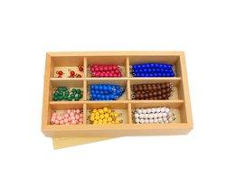 Kids Speelgoed Montessori Materialen Educatief Houten Speelgoed Kleurrijke Checker Board Kralen Math Speelgoed Vroegschoolse Voorschoolse Training