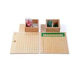 Baby Speelgoed Montessori Vermenigvuldiging Kraal Boord en Divisie Bead Board voor Vroegschoolse Educatie Voorschoolse Training Speelgoed